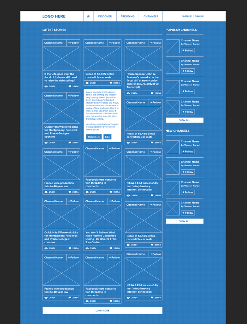 Advermedia for Web design blueprints